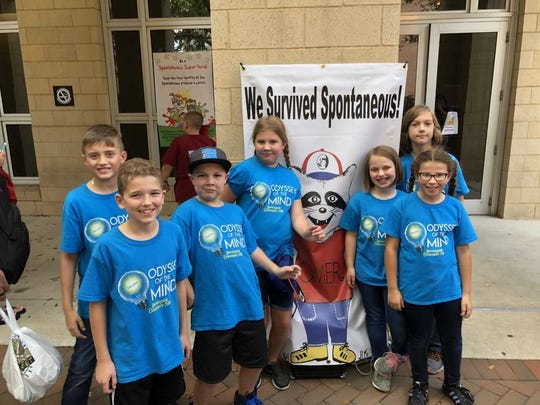 Morningside Elementary's Odyssey of the Mind Team traveling