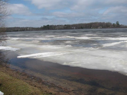 Pike Lake in Price County had plenty of ice remaining