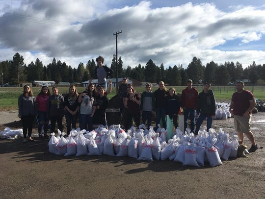 Students at Lincoln school are chipping in by filling