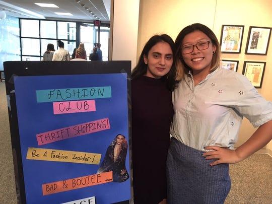 Zara Ali and fellow Fashion Club member Cinderella