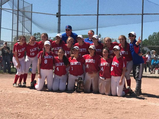 The St. Clair High School softball team earned a district championship Saturday.