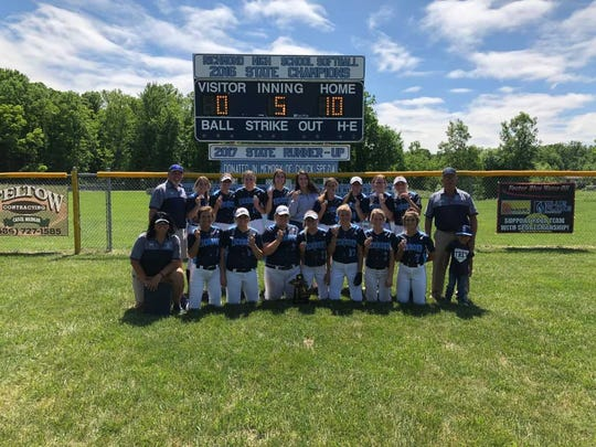 The Richmond softball team after winning a Division 2 district title