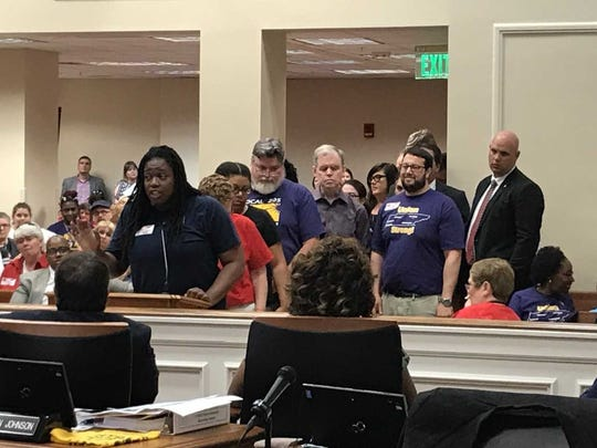 "Odessa Kelly, a Metro parks employee, demanded that Metro ""correct the tax rate that needs to be given to respect all of us who are dedicated to this city."""