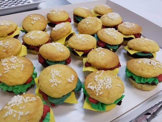 Hamburger cupcakes from Aunt Mia's in Orangeburg.