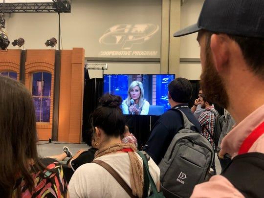 Popular writer and Bible teacher Beth Moore speaks