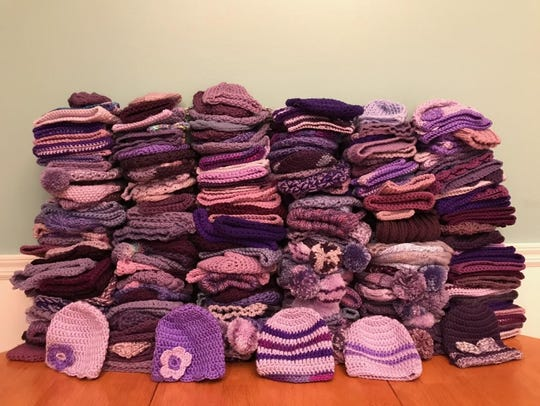 We collected about 240 hats on Saturday for the Click