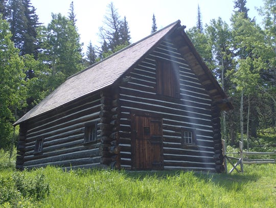 This 1913 ranger station is visible along the Beaver