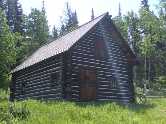 This 1913 ranger station is visible along the Beaver Pond Loop trail in Glacier National Park.