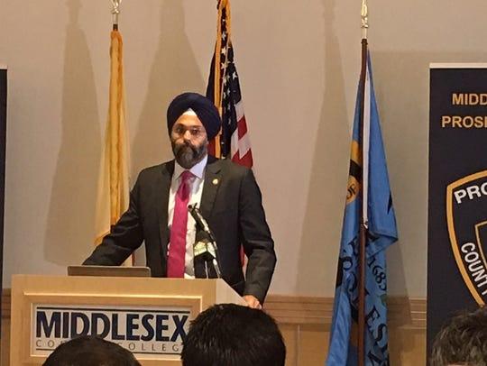 New Jersey Attorney General Gurbir Grewal speaks at