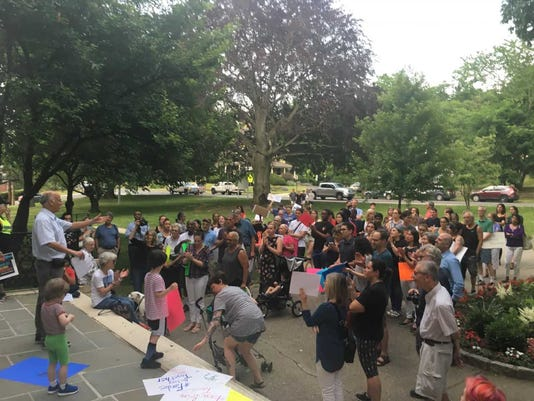 Washington Irving School rally 3