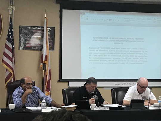 North Collier Fire district's board considers approval of fire fee referendum on June 21, 2018.