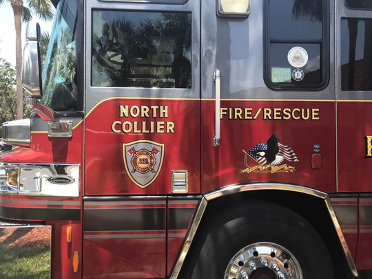 Truck for North Collier Fire district sits at Station 45, near Veterans Community Park in North Naples, on June 21, 2018.