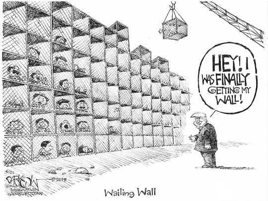 Almost got his wall.