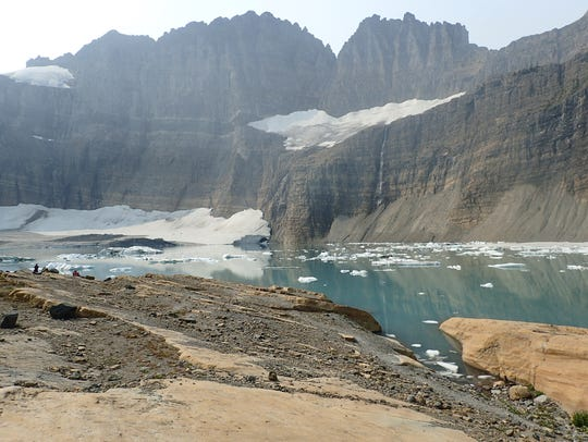 Gem Glacier to the left and Salamander Glacier above,
