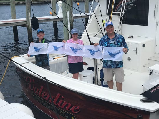 The Sabol family caught and released five sailfish