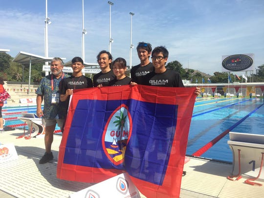 Team Guam at the Oceania Swimming Championships in