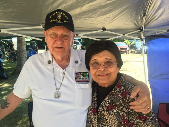 Dolores Young, pictured with her Husband, Paul, was 4 when Japanese forces invaded the U.S. Territory of Guam during World War II. Dolores and Paul, a Korean War veteran, attended the Guam Liberation Day Celebration hosted by the Guamanian Club of Bremerton & Vicinity at the Bremerton Elks Lodge July 22, 2018. Young said wants to keep memories of the liberation vivid among the younger generation of Chamorro people.