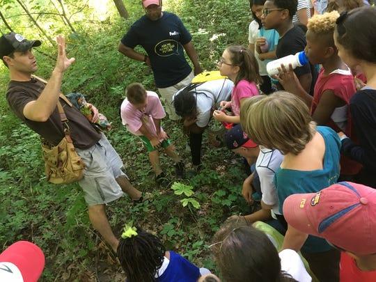 Matt Shull of White Pine Wilderness Academy teaches