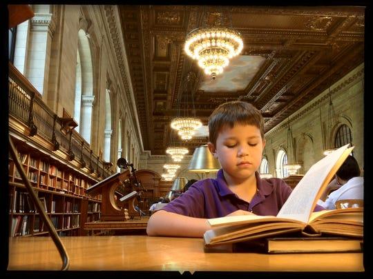 Iden Elliott at the New York Public Library in 2012.