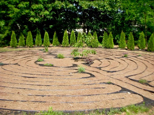 The labyrinth at Holy Trinity Episcopal Church in South River.