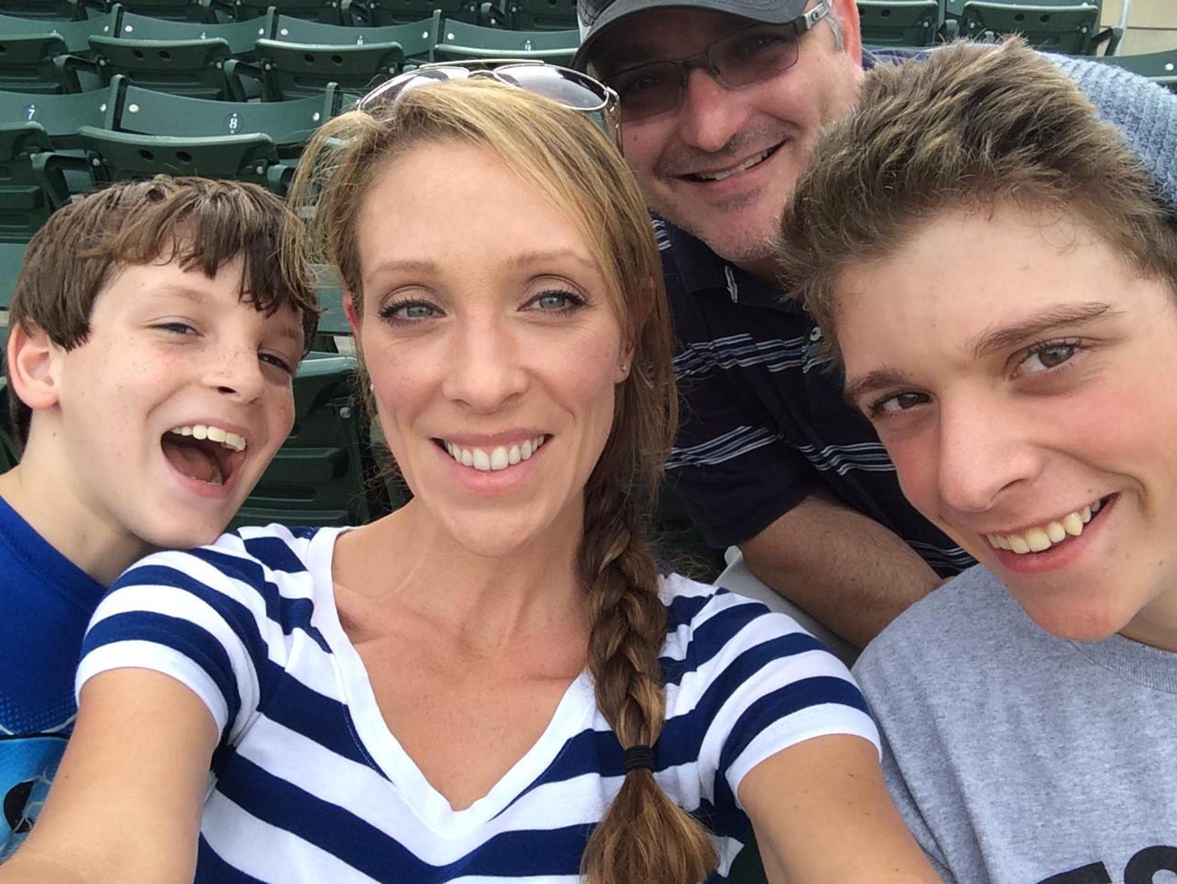 Austin Dukette, right, in a family photo.