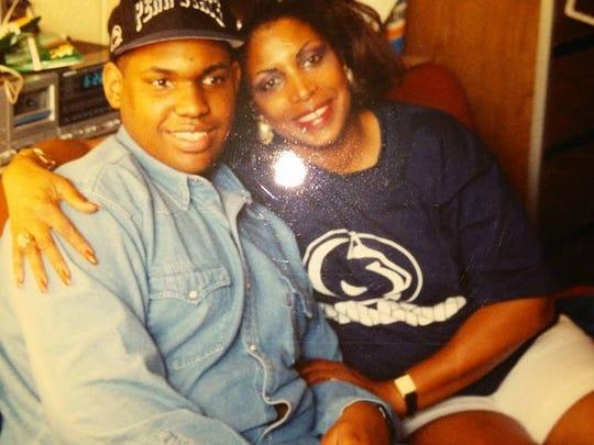 Chad Washington and his mother, Barbara Washington