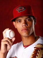 Yoan Lopez at Arizona Diamondbacks picture day on Sunday,