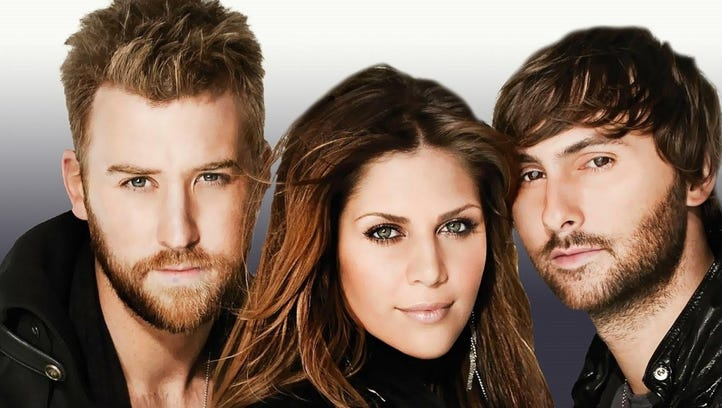 The country super-trio Lady Antebellum will perform
