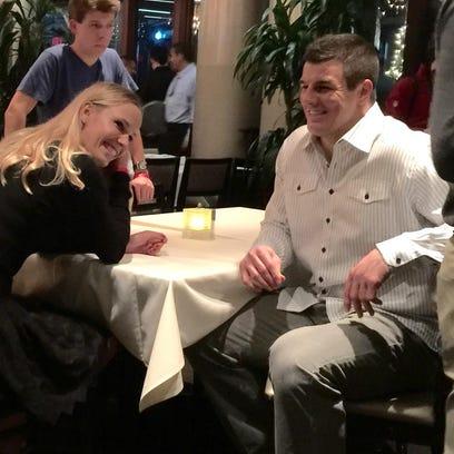 On Monday night, Wozniacki attended a Washington, D.C.
