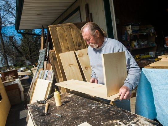 Sonny Zeigler, owner of Zeiglers Country Stuff, works