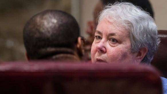 Rep. Patricia Todd (D) on the house floor in the Alabama