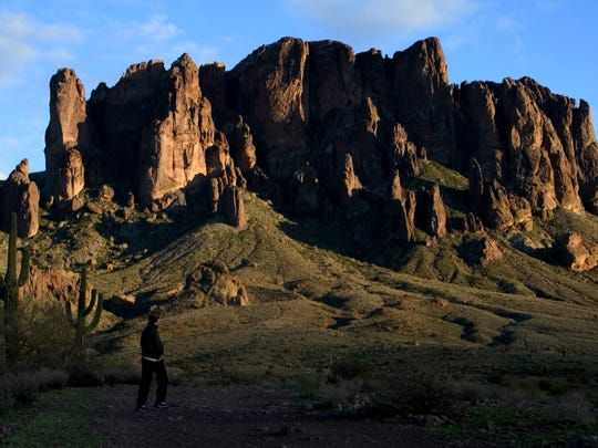 Lost Dutchman State Park in the Superstition Mountains.