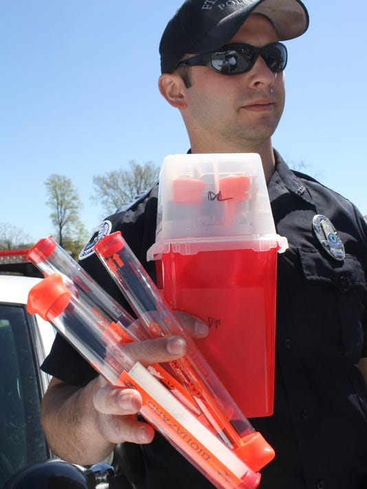 Fort Thomas PD officer Derek Faught needle sharps