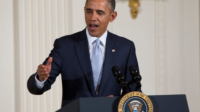 President Obama speaks during the Easter Prayer Breakfast on Monday.