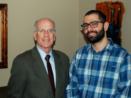 Rep. Peter Welch, left, with former Iraqi translator