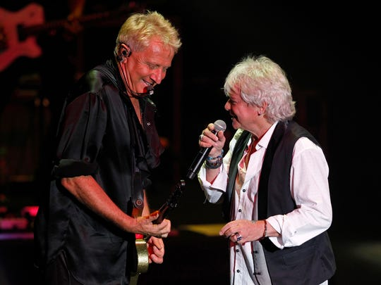 Australian soft rock duo Air Supply performs Aug. 17, 2013, at a concert in Kuala Lumpur, Malaysia. The duo will play The Sunrise Theatre on Jan. 15.
