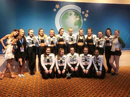 The senior small team from Dollhouse Dance Team took seventh in the world in the category of senior small hip-hop.