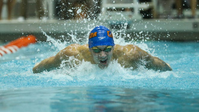 Olympian Caeleb Dressel won multiple events to help Florida win its fifth straight men's team title at the SEC Swimming and Diving Championships at the Allan Jones Intercollegiate Aquatic Center.