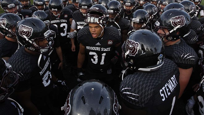 Dylan Cole (31) was a unanimous Football Championship Subdivision All-American as a senior at Missouri State.