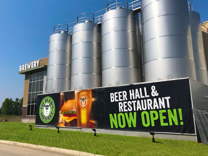The massive new production facility and beer hall for