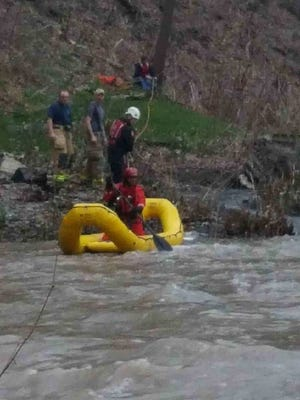 A man and his dog were rescued from a Lansing creek.