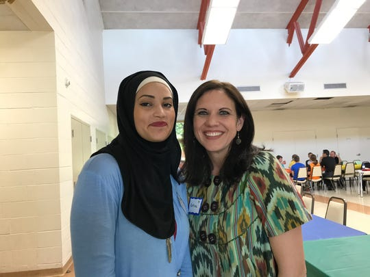 Amira Hamed, left, and Katina Sharp are co-founders of Seeds of Abraham, an interfaith group for young people in middle and high school.