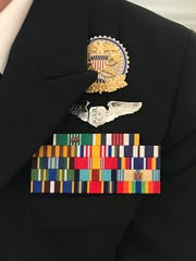 The uniform of Lt. Cmdr. Courtney Gustin of the Commissioned Corps. Photo by Jayne O'Donnell, USA TODAY