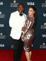 Buffalo Bills running back LeSean McCoy and Delicia Cordon arrive at the 6th annual NFL Honors at the Wortham Center on Saturday, Feb. 4, 2017, in Houston.
