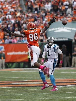 Carlos Dunlap and the Bengals chased Cam Newton around the field in Week 6.