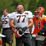 Two Bengals starting offensive linemen not practicing