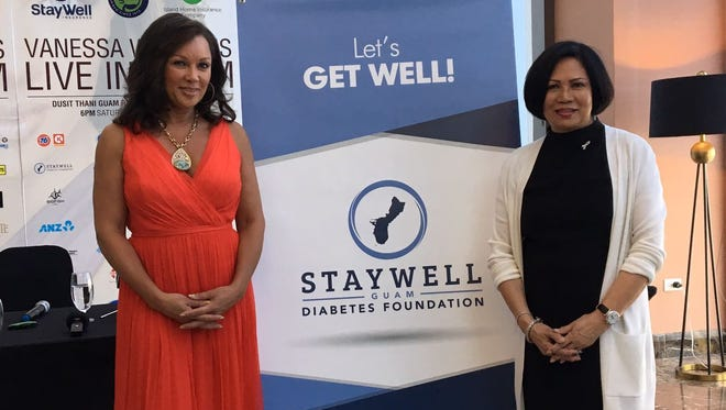 Award-winning singer and actress Vanessa Williams poses with StayWell Insurance's CEO Chen Mack. Williams will be performing at StayWell diabetes foundation's inaugural gala on March 17 at the Dusit Thani.