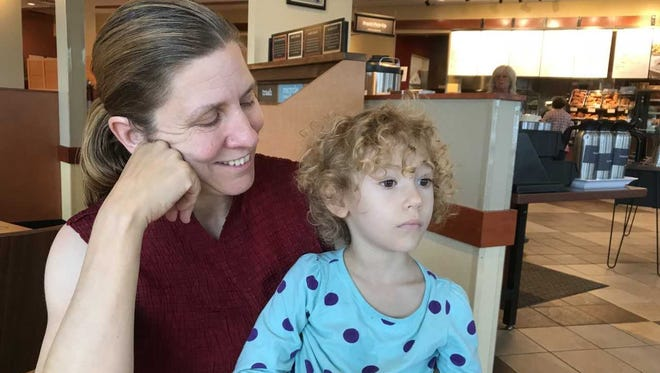 Allie Warfel and her 4-year-old daughter, Samantha, had a close encounter with incivility in the Giant parking lot.
