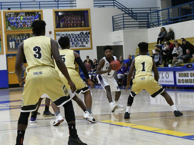 An image from the Brinkley-Hamburg senior boys' game