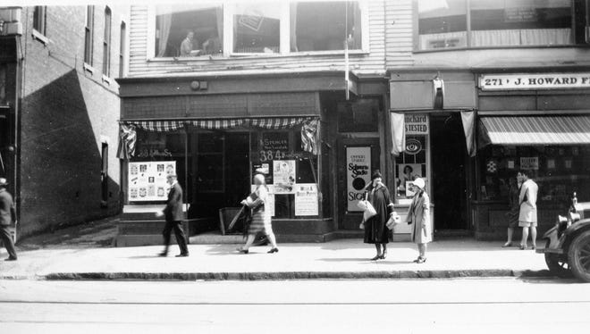 A Main Street scene in Poughkeepsie in the late 1920s.
